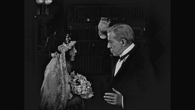 1920 Groom (Buster Keaton) isn't welcomed by his future father in law