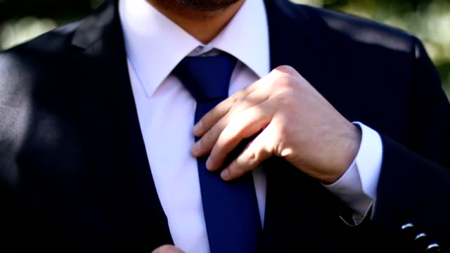 a groom preparing to marry - necktie stock videos & royalty-free footage