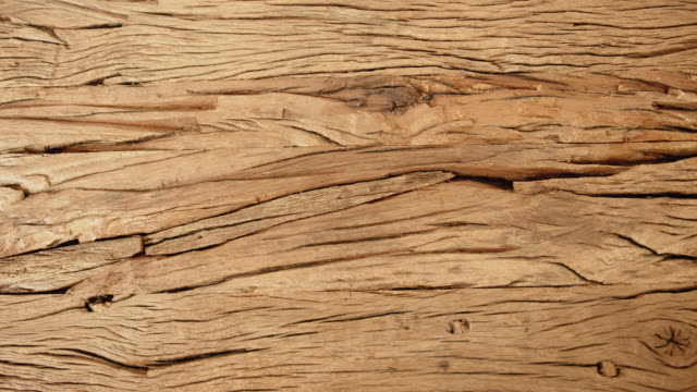 grooved old wood table surface - motivo naturale video stock e b–roll