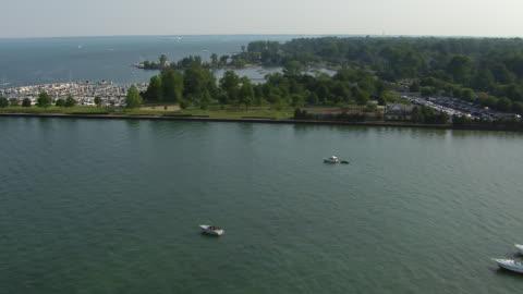 grosse pointe farms marinas - michigan stock videos & royalty-free footage