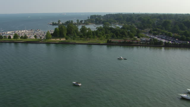 grosse pointe farms marinas - michigan stock videos & royalty-free footage