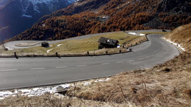 Grossglockner road before winter time.