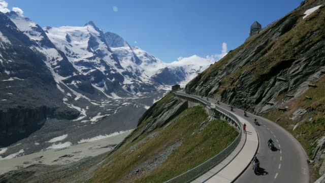 grossglockner with high alpine road, hohe tauern, carinthia alps, carinthia, austria - carinthia stock videos & royalty-free footage