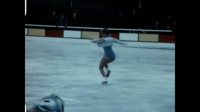 Grossinger's Resort Ice Skating Rink during the winter months in the late 1960's
