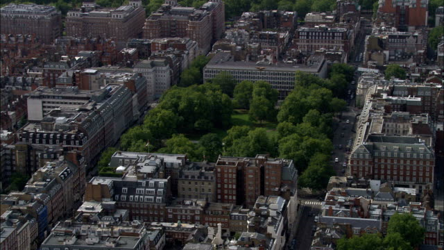 grosvenor square  - aerial view - england, greater london, city of westminster, united kingdom - us embassy stock videos & royalty-free footage