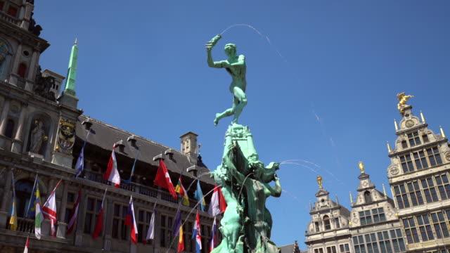 Grote Markt à Anvers avec fontaine, panoramique