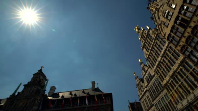 Grote Markt à Anvers avec soleil, panoramique