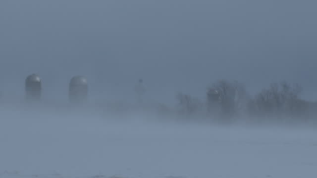 ground blizzard conditions over a field - scott mcpartland stock videos & royalty-free footage