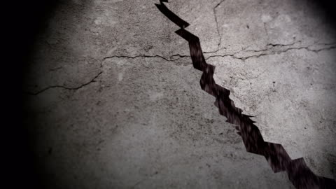 ground fissures caused by earthquakes - stone material stock videos & royalty-free footage