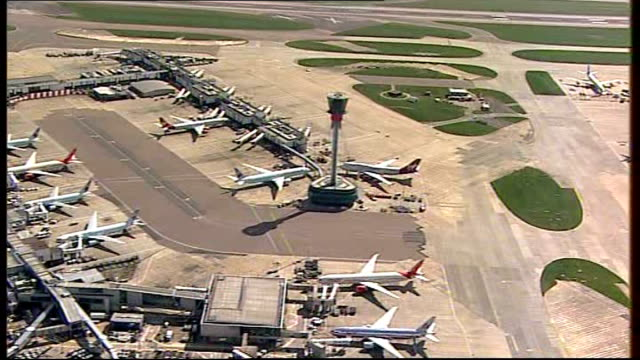 grounded planes at airport - ash stock videos & royalty-free footage