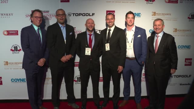 aeg group and guests at 10th annual sports business awards at the new york marriott marquis on may 24 2017 in new york city - marriott marquis new york stock videos & royalty-free footage