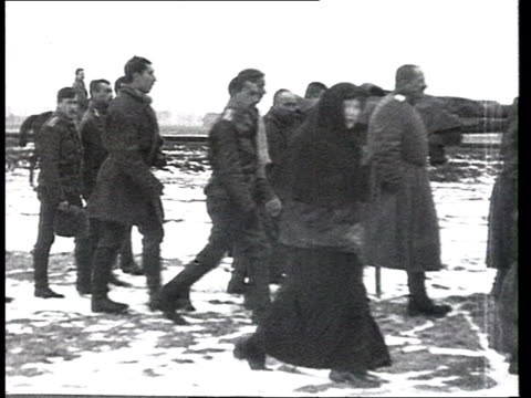 group carrying stretcher with dead man to grave / russia - 1914 stock videos & royalty-free footage