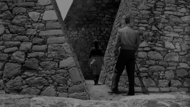 a group explores outside the aztec ruins in mexico - aztec stock videos & royalty-free footage
