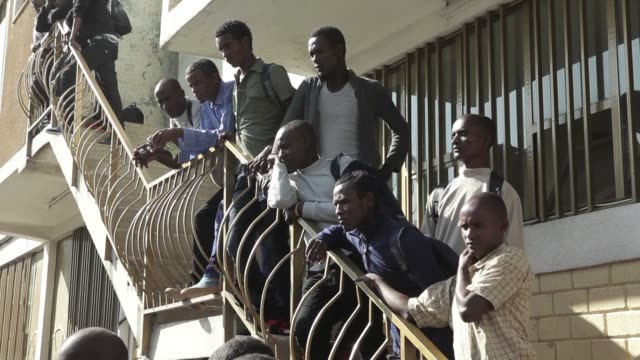 a group of 150 ethiopian migrants who received presidential pardons in december 2016 after being detained in zambia for between one and five years... - ethiopia stock videos & royalty-free footage