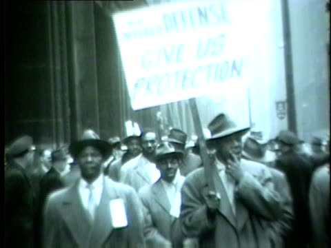 a group of 1500 people marched in front of chicago city hall after city officials failed to protect black families from violent assaults after moving... - 1954 stock videos and b-roll footage