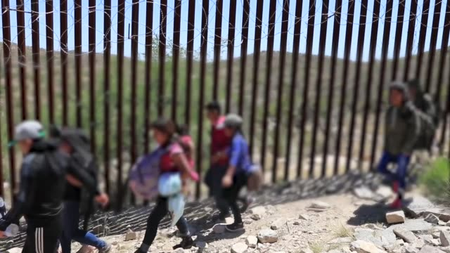 group of 30 central americans consisting of family units and unaccompanied children enter the united states west of sasabe, arizona and surrender to... - undocumented immigrant stock videos & royalty-free footage