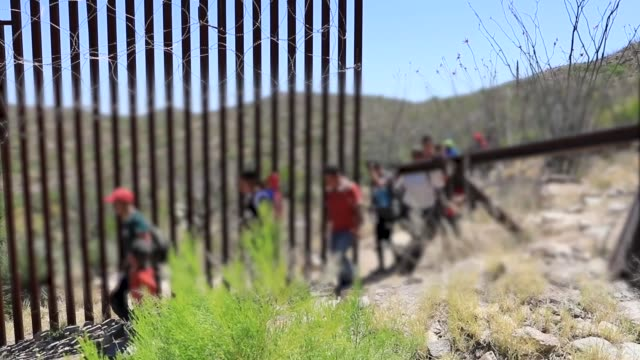 group of 30 central americans consisting of family units and unaccompanied children enter the united states west of sasabe, arizona and surrender to... - arizona stock videos & royalty-free footage