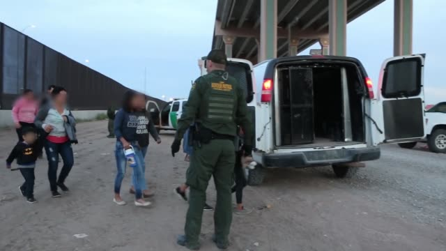 group of 45 migrants were intercepted by u.s. border patrol agents in el paso, texas. march 21, 2019. - frame border stock videos & royalty-free footage