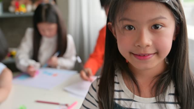 group of asian kid in education of arts class - community college stock videos & royalty-free footage