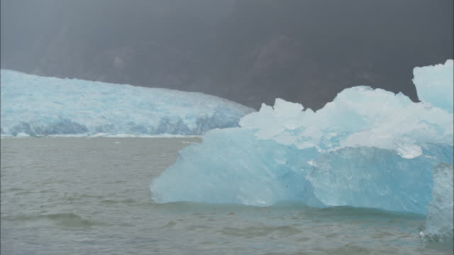 group of blue glaciers off the coast of chile. - glacier stock videos & royalty-free footage
