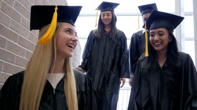group of cheerful graduates - graduation stock videos & royalty-free footage