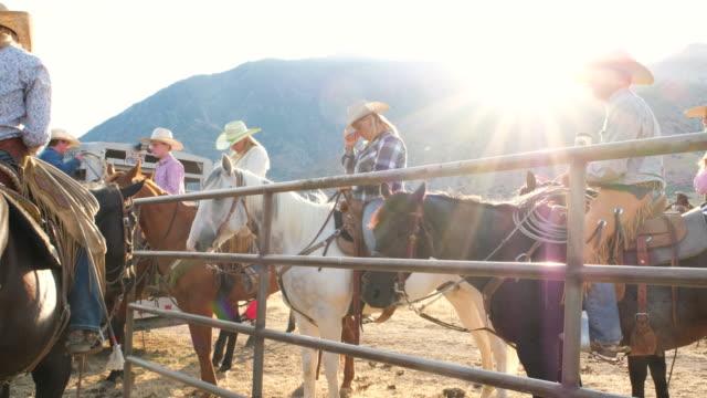 Gruppe von Cowboys