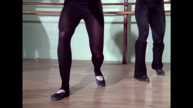 group of dancers rehearse in a studio in 1974 - dance studio stock videos & royalty-free footage