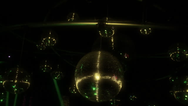 Group Of Disco Ball And Light