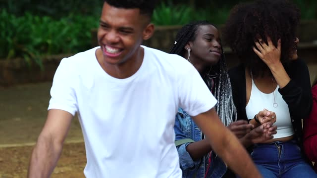 group of diverse having fun at park - 18 teen stock videos & royalty-free footage