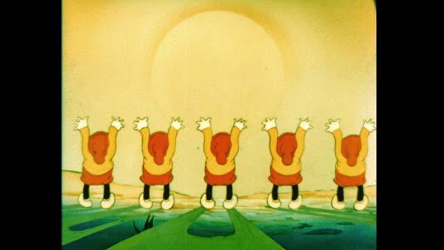 a group of elves salute the rising sun - エルフ点の映像素材/bロール