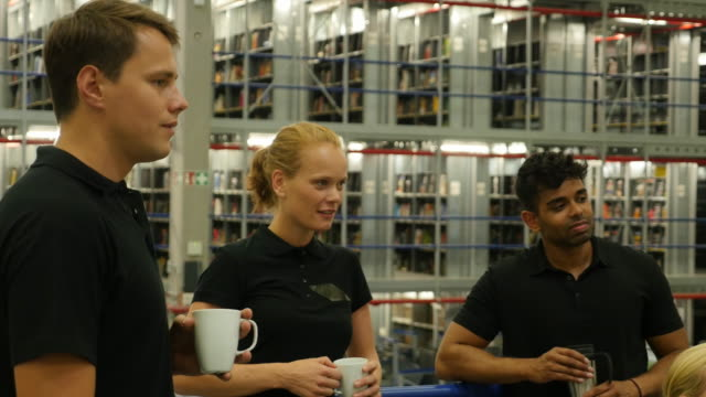 Group of employees having a coffee break