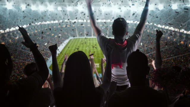 group of fans cheering for sports team - fan enthusiast stock videos & royalty-free footage