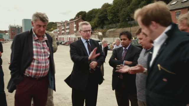 a group of fishermen have warned the environment secretary that brexit is the government's one chance to save their floundering industry michael gove... - michael gove stock-videos und b-roll-filmmaterial