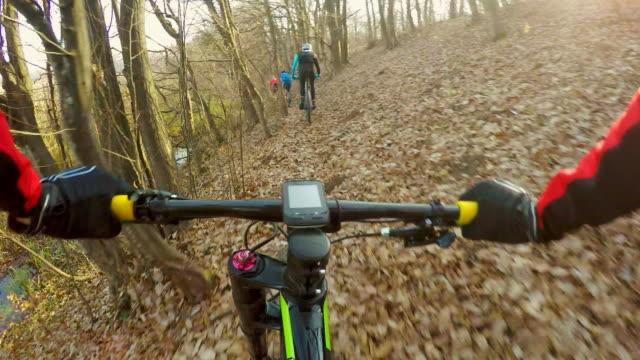 group of friends biking. - mountain bike stock videos & royalty-free footage