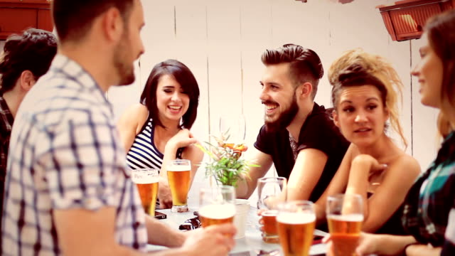 group of friends enjoying drink - 20 24 years stock videos & royalty-free footage