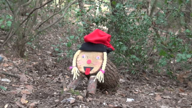 a group of friends found a female christmas wooden log 'caga tio de nadal' being hidden at collserola natural park on december 14 2019 in barcelona... - friendship stock videos & royalty-free footage