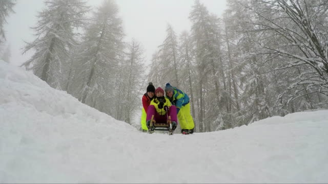 group of friends having fun in a winter vacation - ski holiday stock videos & royalty-free footage