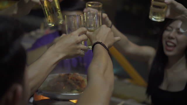 group of friends in party - substance abuse stock videos & royalty-free footage