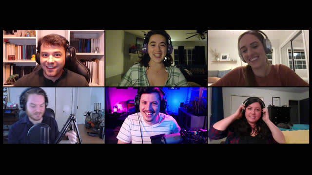 group of friends put on headsets to get ready to play multiplayer video games together on a video call - greeting stock videos & royalty-free footage