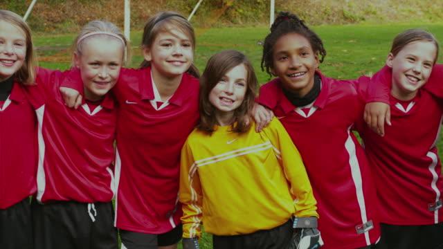 MS PAN Group of girls in soccer club / Portland, Oregon, USA