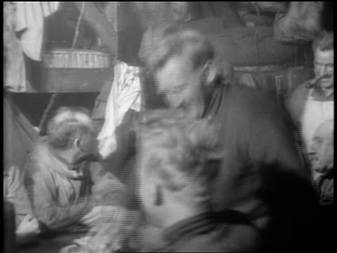 b/w 1929 group of happy men shaking hands in celebration / admiral byrd's flight over south pole - 1929 stock videos and b-roll footage