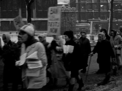 a group of housewives march against nuclear weapons - marching stock videos & royalty-free footage