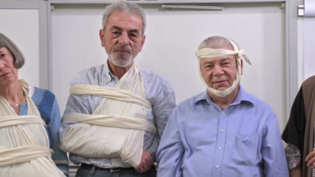 hd: group of injured senior adults - comminuted fracture stock videos and b-roll footage