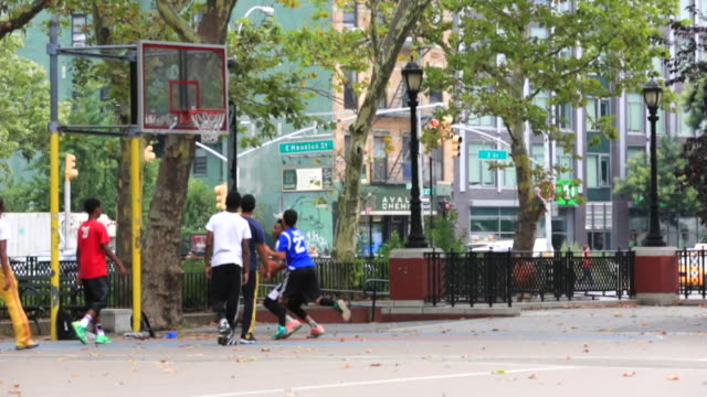 a group of kids playing basketball - 2014 stock videos and b-roll footage