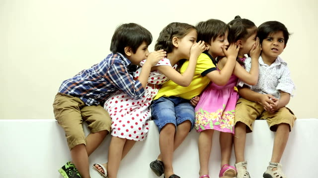 group of kids whispering - whispering stock videos & royalty-free footage