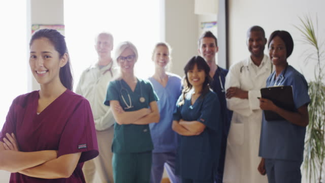 group of medical doctors and nurses - medical student stock videos and b-roll footage