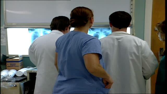 Group of Medical Staff Reviewing X Rays in Tampa Florida