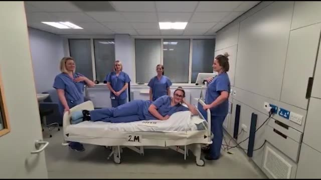 group of midwives in scotland has created a song and dance to make a light-hearted illustration of social distancing amid the coronavirus crisis. the... - dancer stock videos & royalty-free footage