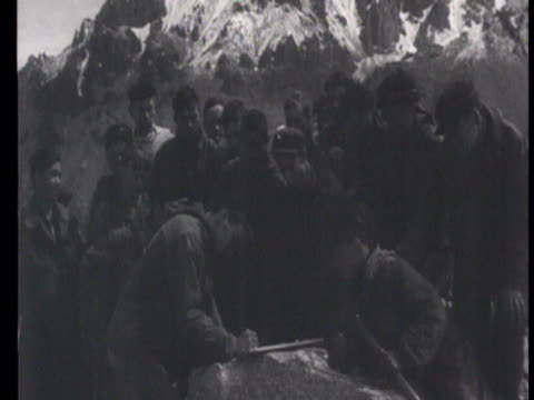 group of mountaineers, students from alma ata / russia, audio - 1949 stock videos & royalty-free footage