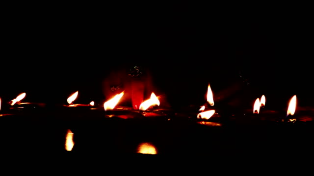 group of oil lamps burning - oil lamp stock videos & royalty-free footage